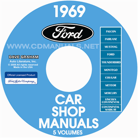 1969 ford car shop manuals all models