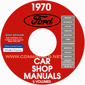 1970 ford, lincoln, mercury shop manuals all models