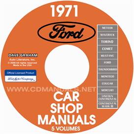 1971 ford, lincoln, mercury shop manuals  all models