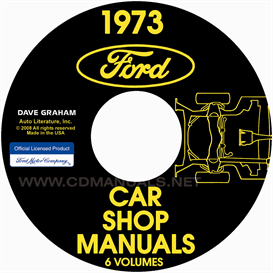 1973 shop manuals - ford, lincoln, and mercury cars  all models
