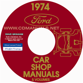 1974 ford, lincoln, and mercury shop manuals  all models