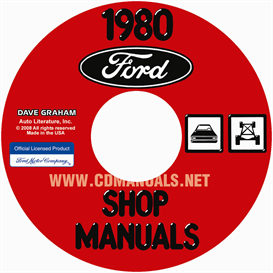 1980 ford lincoln mercury car shop manual  all models
