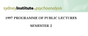 Sydney Institute For Psychoanalysis 1997 Public Lecture Series Term 2 | eBooks | Psychology & Psychiatry