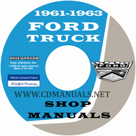 1961-1962-1963 ford truck shop manual for 100-800