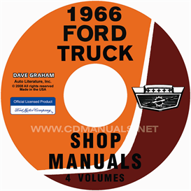 1966 ford truck shop manual set