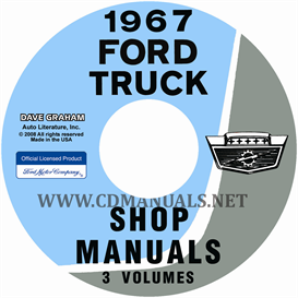1967 ford truck shop manual set