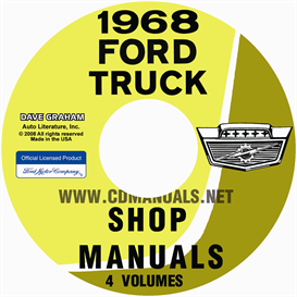 1968 ford truck shop manual set