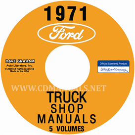1971 ford truck repair manual 5 volume set