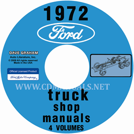 1972 ford truck shop manuals 5 volume set