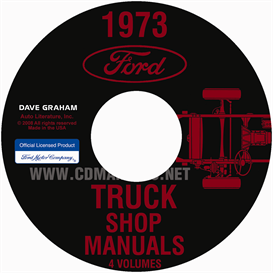 1973 ford truck shop manual set