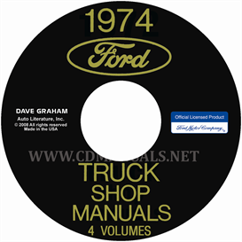 1974 ford truck shop manuals 5 volume set