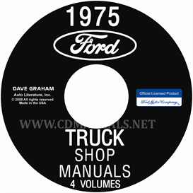 1975 ford truck shop manuals 5 volume set