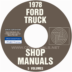 1978 ford truck shop manual set