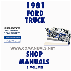 1981 ford truck and van repair manual set