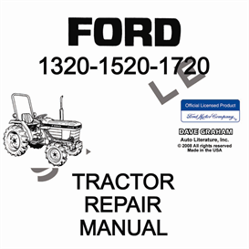 1320, 1520, 1720 ford tractor shop manual