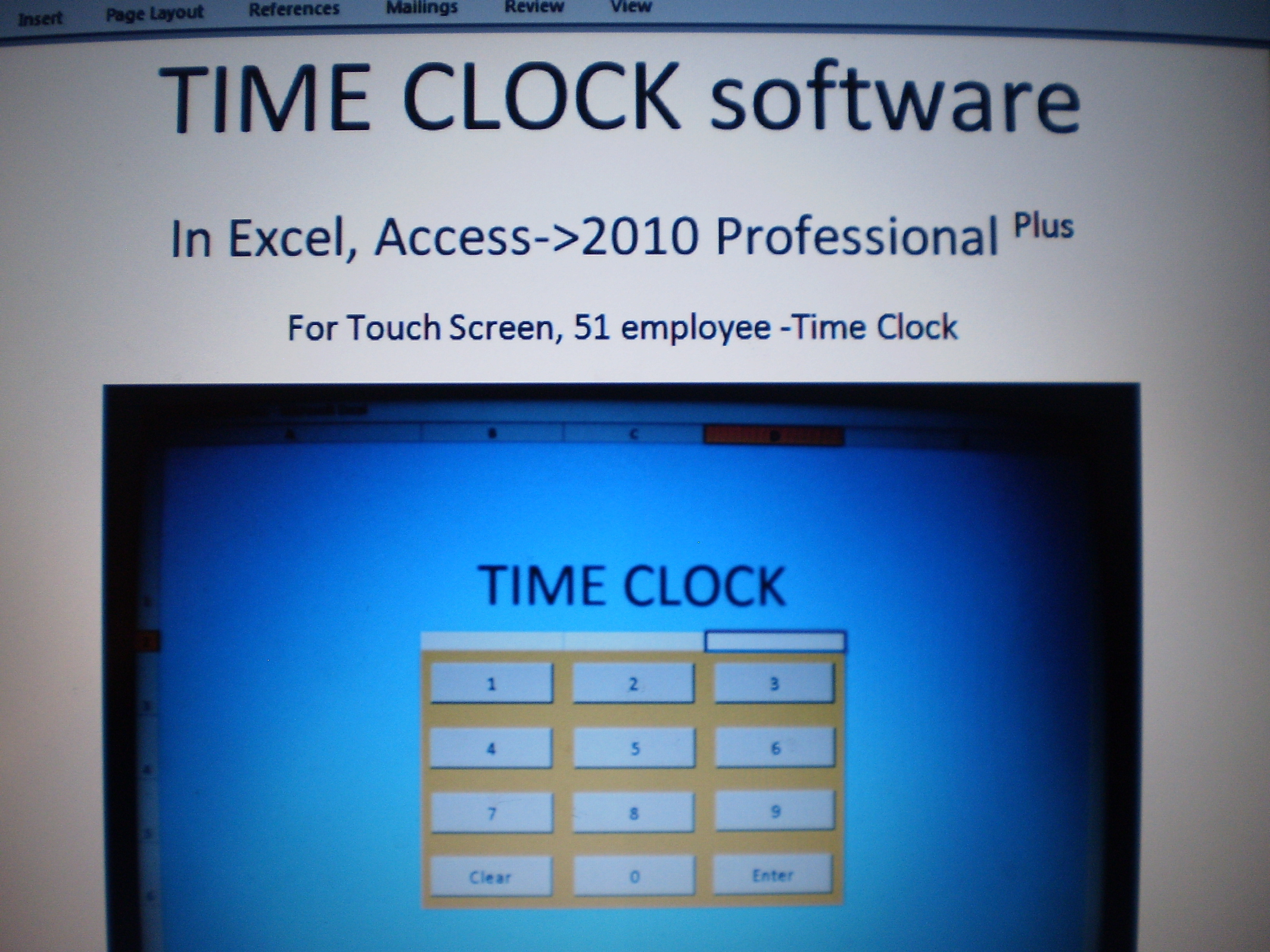 time clock software in excel access software business other
