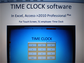 time clock software, in excel & access. update needed.11/9/18.