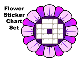 spring flower stickerchart set
