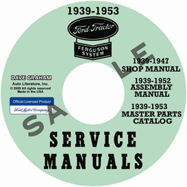1939-1947 ford 2n 9n tractor shop manual parts books