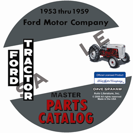1953-1959 ford tractor master parts catalog
