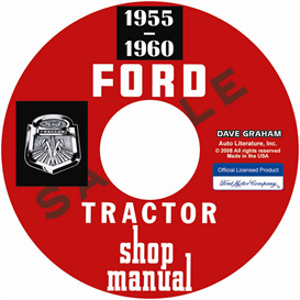 1955-1960 ford tractor shop manual