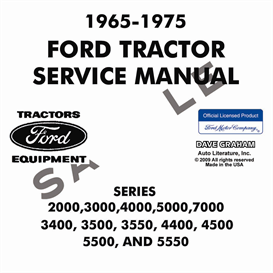 1965-1975 ford tractor service manual