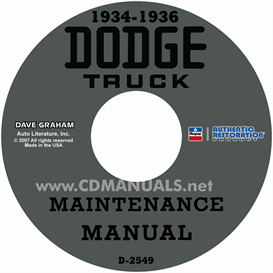 1934-1936 dodge truck shop manual