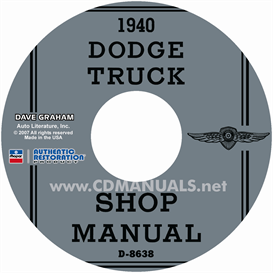 1940 dodge truck shop manual
