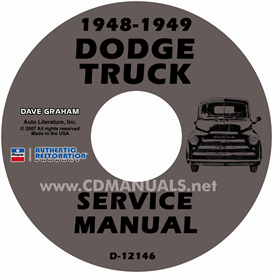 1948-1949 dodge pickup & truck shop manual