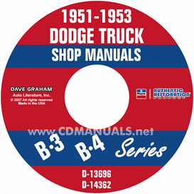 1951-1953 dodge pickup & truck shop manual