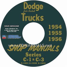 1954-1956 dodge pickup & truck shop manual