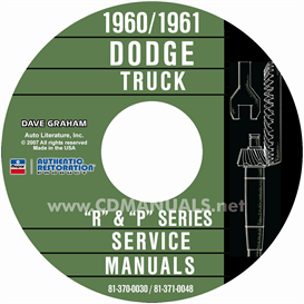 1960-1961 dodge truck shop manual - all models
