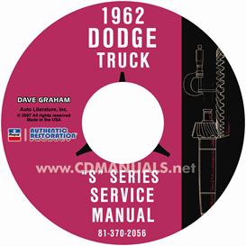 1962 dodge pickup & truck shop manual - all models