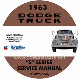 1963 dodge truck shop manual - all models