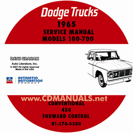 1965 dodge truck shop manual - all models