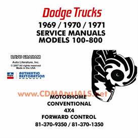 1969-1971 Dodge Truck Shop Manual - All Models | eBooks | Automotive