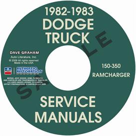 1982-1983 dodge pickup 150-350