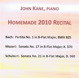 Homemade 2010 Recital Bach Bb Partita 5 Minuet MP3 | Music | Classical