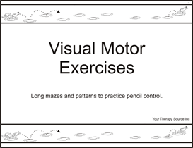 visual motor exercises