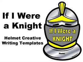 if i were a knight - helmet creative writing set