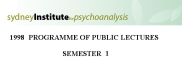 Sydney Institute For Psychoanalysis 1998 Public Lecture Series Term 1 | eBooks | Psychology & Psychiatry