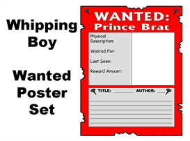 the whipping boy - 4 wanted posters set