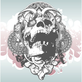 vector mythical skull illustration
