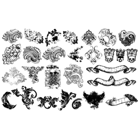flourishes and scrolls vector set 2