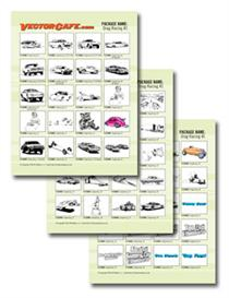 Misc. Drag Racing Vector Clip Art #1 | Other Files | Clip Art