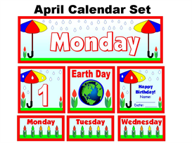 April Calendar Set | Other Files | Documents and Forms