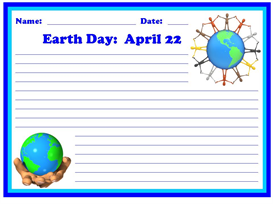 earth day stationery set