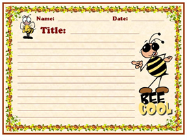 bee cool stationery set