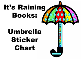 it's raining books sticker chart set