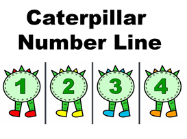 caterpillar number line 1-100